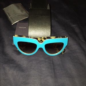 Brand new Authentic Prada blue sunglasses